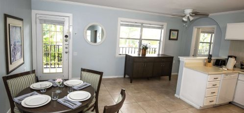 Marco Island Lakeside Inn Lakeview Superior 2 BR-2BA Suite dining room to front door