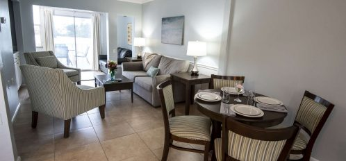 Marco Island Lakeside Inn Lakeview Superior 2 BR-2BA Suite dining to living room