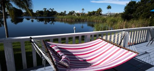 Marco Island Lakeside Inn Lakeview Superior 2 BR-2BA Suite hammock by the lake