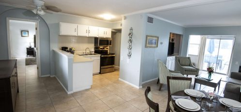 Marco Island Lakeside Inn Lakeview Superior 2 BR-2BA Suite kitchen dining living room
