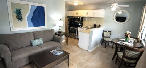 Marco Island Lakeside Inn Lakeview Superior first floor 1BR Suite living room dining area