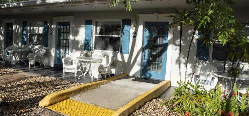 Marco Island Lakeside Inn Poolside Studio ADA exterior ramp