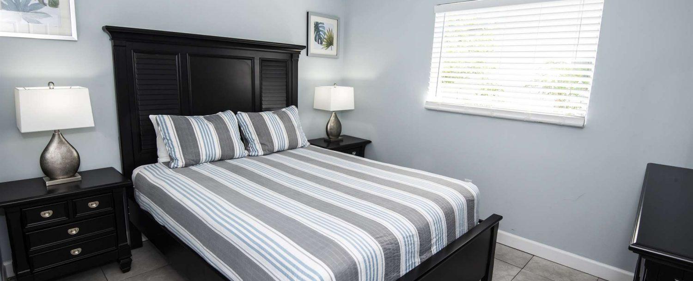 Marco Island Lakeside Inn Standard Villa 2BR-1BA Bedroom B Lights On