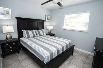 Marco Island Lakeside Inn Standard Villa 2BR-1BA Bedroom B Lights On