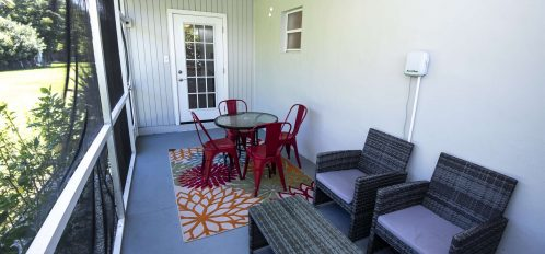 Marco Island Lakeside Inn Villa 2BR-1BA screened porch