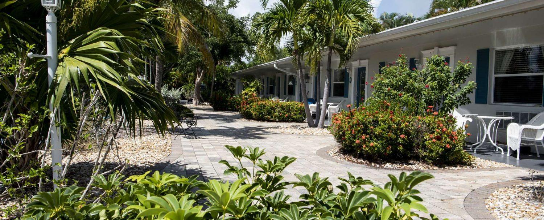 Marco Island Lakeside Inn exterior garden walkway