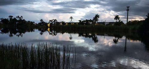Marco Island Lakeside Inn exterior lake dusk