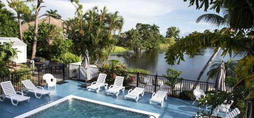 Marco Island Lakeside Inn exterior pool lake from 2nd floor