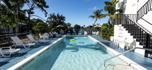Marco Island Lakeside Inn exterior pool to lake