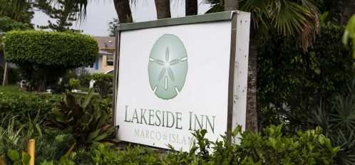 Marco Island Lakeside Inn exterior sign (2)