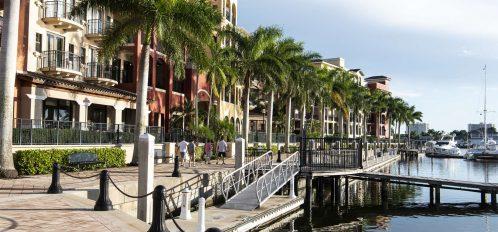 Marco Island area esplanade walkway