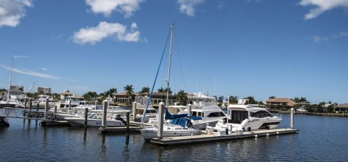 Marco Island area nearby marina and boats